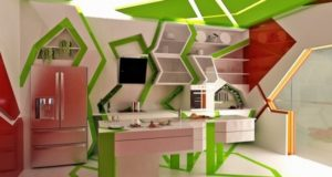 How to design a red and green kitchen