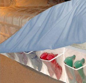 Store footwears underneath of the bed