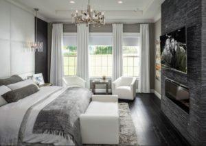 Black-white bedroom interior pictures