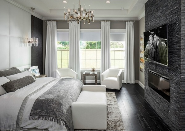 Black-white bedroom interior pictures