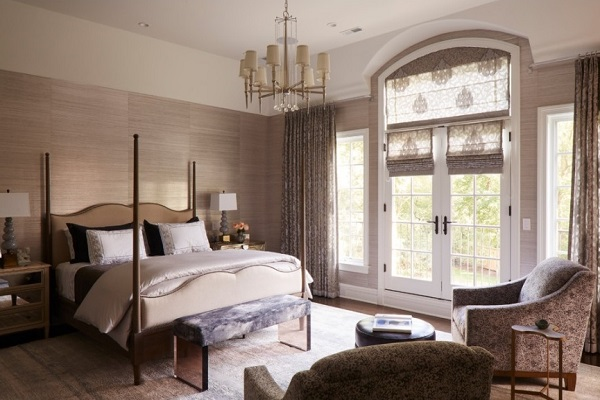 Brownish modern bedroom decor photo