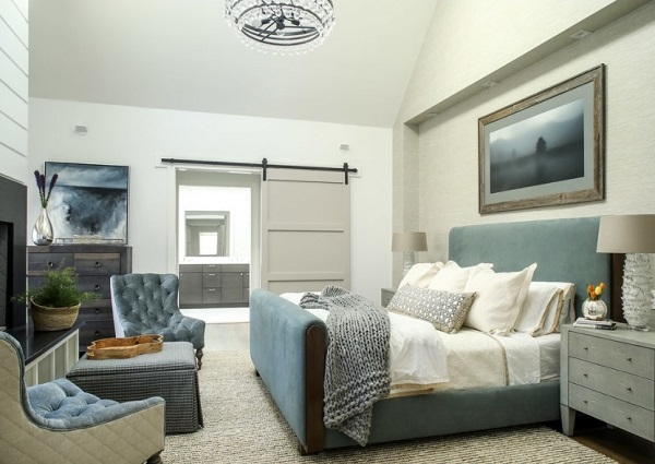 Contemporary bedroom interior design photo