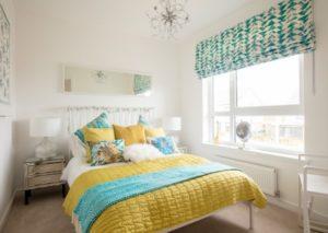 Elegant white interior style for modern bedroom decor