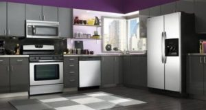 "Purple and Grey Kitchen Decor Defines ""Royalty"""