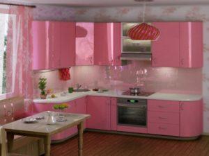 Light pink color kitchen interior decor tips