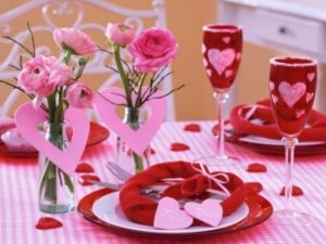 Lovely romantic table for valentine's day