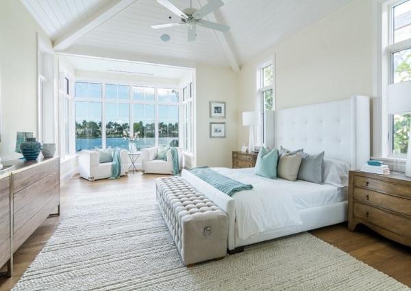 Modern white bedroom decor idea inspiration