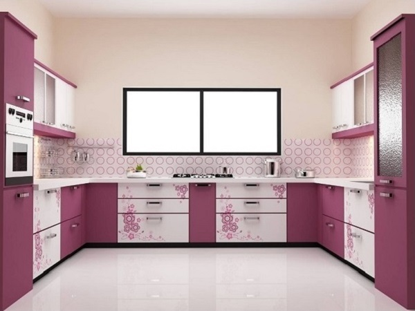 Most elegant pink kitchen decor picture