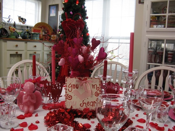 Most romantic table decor idea