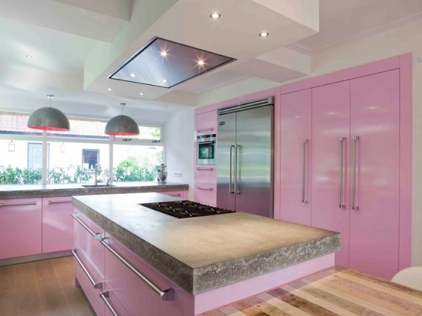 Pink kitchen decor photos