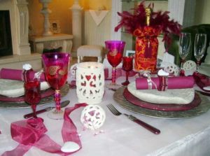 Romantic table decorating ideas for valentine's day