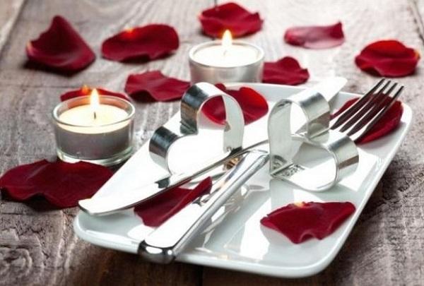 Rose leaves, heart work decor for romantic valentine day