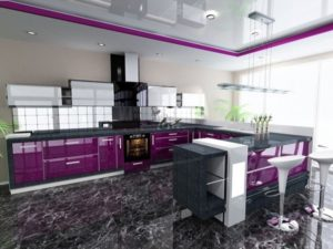 Top Purple kitchen design ideas