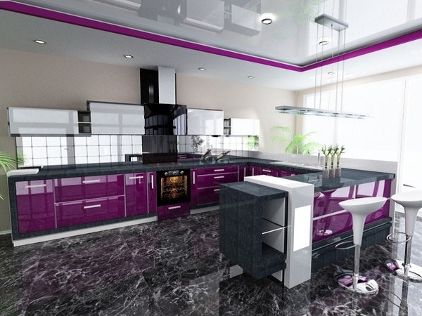 Top Purple kitchen design ideas