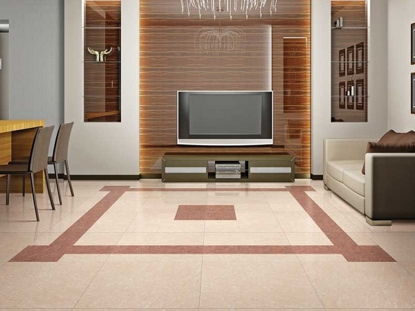 Vitrified Tiles Install On Living Room Floor