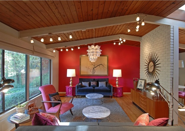 Red Living Room Design Ideas Walls Interior decor Photos
