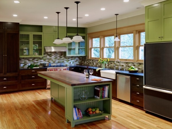 Green Kitchen Designs, Ideas, Photos - Home Decor Buzz