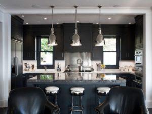 Amazing black kitchen interior decor picture