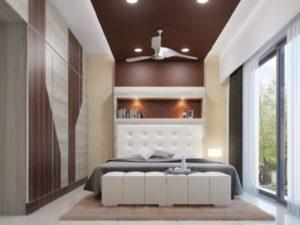 Coffee brown cream bedroom design