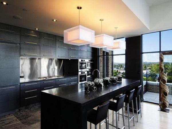Contemporary Black Kitchen Designs