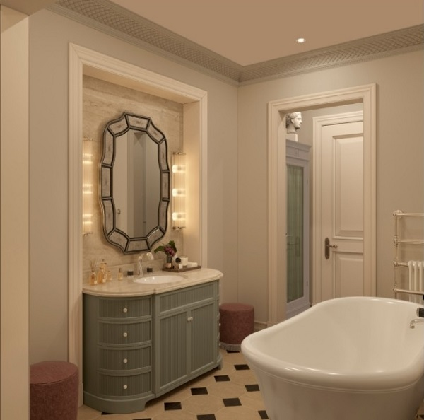 Cozy bathroom interior decor
