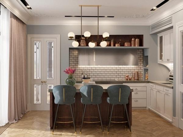 Elegant kitchen interior design by Marion Studio