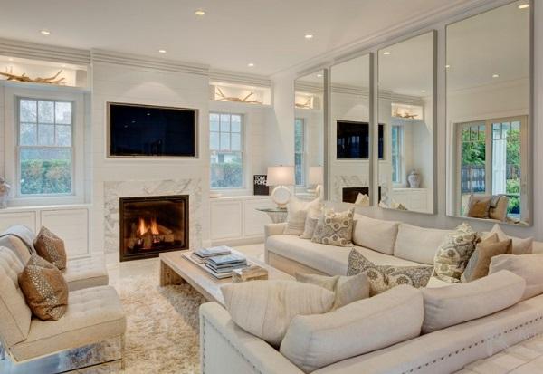 Mirrors enhance beauty of room