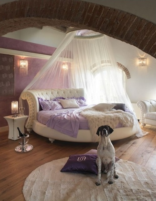 Modern purple bedroom design ideas