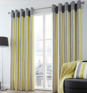 Vertical pattern curtains