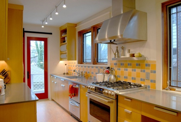 Beautiful Kitchen Design In Yellow Color