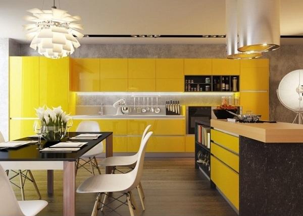 Bright yellow kitchen design inspiration