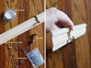 Ideas to Make a Decorative Molding Hook Rail