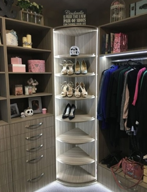 360 degree rotating shoe storage rack