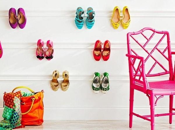 Hang footwears on the wall