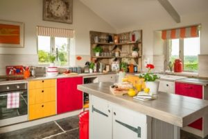 Red and yellow kitchen decor