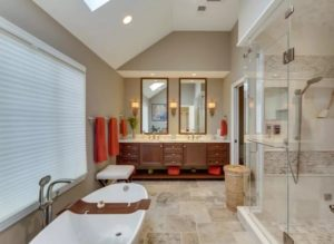 Modern bathroom interior design photo
