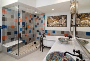 Stylish modern bathroom interior designing picture