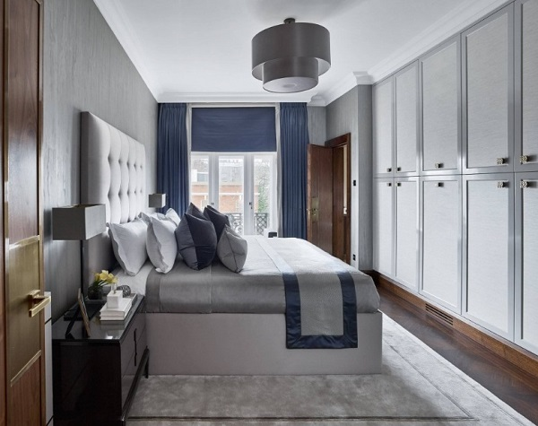 Stylish wardrobes for grey theme bedroom