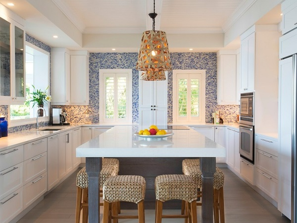Beach style kitchen interior design pictures