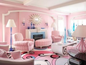 Beautiful pink living room design by homedecorbuzz