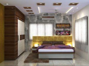 Bedroom design for 3-BHK flat in Vedic village, Kolkata