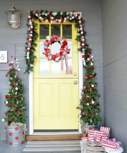Christmas tree buckets for outdoor home decoration on Christmas