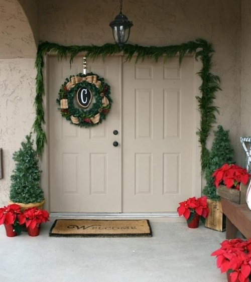 Double door decoration for Merry Christmas