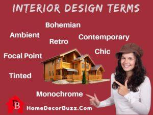 Interior Design terms definition by homedecorbuzz