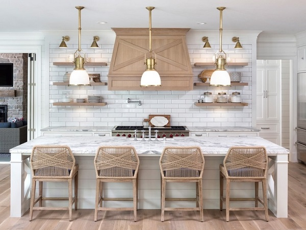 Kitchen design in beach style