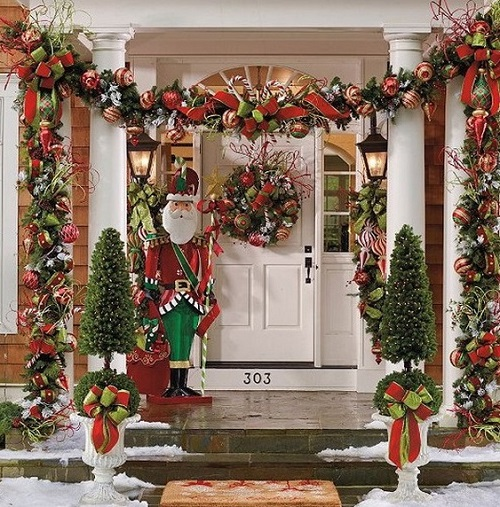 Santa welcoming door for Christmas decoration