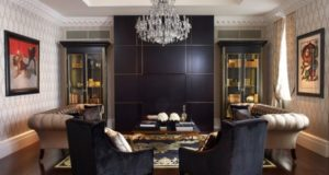 Top Black Living Room Designs, Pictures