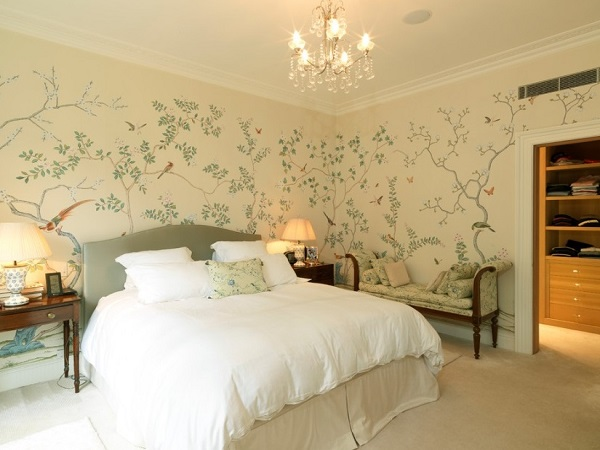 Forest theme wallpaper for bedroom by homedecorbuzz