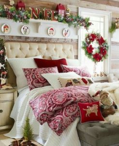 Christmas bedroom decoration ideas by homedecorbuzz