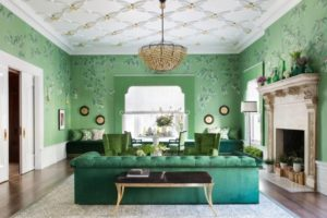 Stylish wall art for green living room interior design by homedecorbuzz